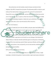 Dna Essay Discuss About Dna Related Topic Essay Example Topics And