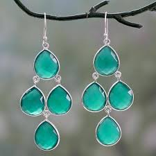 green onyx chandelier earrings evergreen chandelier handmade green onyx and sterling silver
