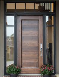 Door Example Of Custom Woodor With Glass Surround Interior Barn