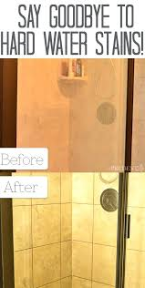 removing hard water stains from glass shower doors hard water stains with an salts scrub