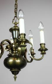 colonial revival chandelier 6 lights