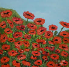 poppies painting field of poppies by margaret brackley