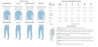 Columbia Size Charts Outdoor Sports