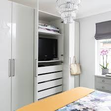hide your tv in a wardrobe