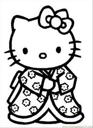 Hello kitty or her real name kitty white was born in london on november 1st. Hello Kitty Coloring Pages Picture Whitesbelfast