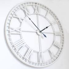 Industrial Huge White Metal Wall Clock