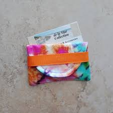 tie dye business cards business card case credit card case rainbow tie dye card etsy