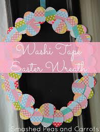 tutorial washi tape easter wreath