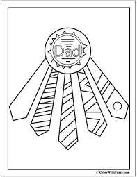 Small Picture Tie Award Fathers Day Coloring Pages Ties For Ribbons