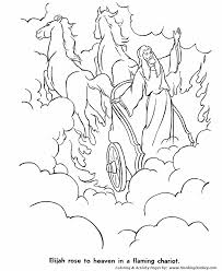 Small Picture Bible Story characters Coloring Page Sheets Elijah was taken to