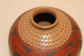 Michael Wisner Michael Wisner Beautiful Pottery Vase Ceramic Art Carved 5