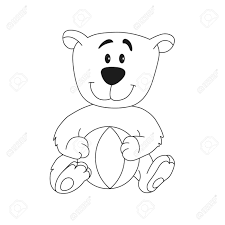 cartoon outline ilration of character for coloring book