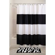 Image Ticking Stripe Aliexpress Us 1668 interdesign Zeno Waterproof Shower Curtain Black And White 72 Inches 72 Inchesin Shower Curtains From Home Garden On Aliexpresscom