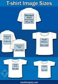 Sizing Chart With Several Common Sizes For Design Images