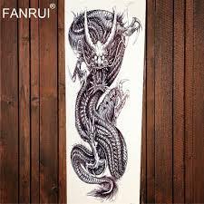 татуировка наклейка спартанский воин Temporarty 48x17cm большая полная рука