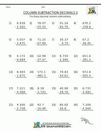 Adding And Subtracting Decimals Worksheet. Addition ...