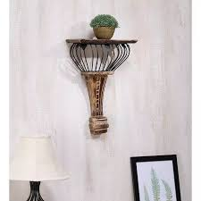 Buy Floating Shelves Online Simple Buy Onlineshoppee Wooden Wrought Iron Hand Carved Wall Shelf
