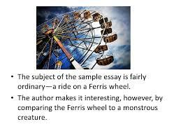 descriptive essay <br > 10 the subject of the sample essay
