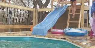 Best 25 Above ground pool slide ideas on Pinterest DIY pool
