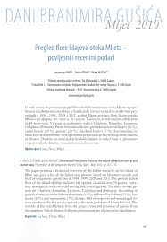 (PDF) Overview of the lichen flora on the Island of Mljet: historical ...