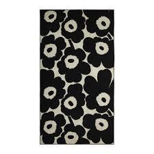 beach towel designs. Unikko Beach Towel - Black/Sand Designs H
