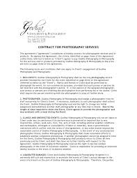 event agreement contract photography contract