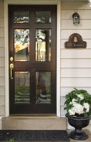 simple and neat black front door with glass for your house decoration design astounding white