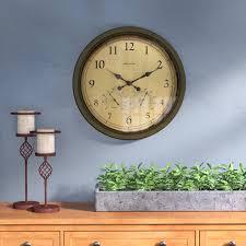 oversized outdoor clock oversized 24 brown outdoor clock combo oversized outdoor clock with thermometer