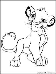 coloring pages baby room wall decor letters lion king simba free printable