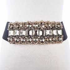 New <b>Rhinestone Belt</b> full <b>crystal</b> wide waistband decorated <b>female</b> ...