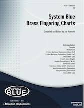 Baritone Finger Chart Treble Clef 3 Valve Brass Fingering Charts Show Marching Music