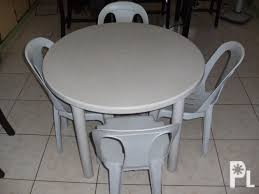 plastic round table 4 chairs dumaguete city for
