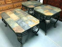 stone tile coffee table stone coffee table set slate top end table slate top square end