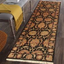 rugsville agra black runner rug 10434