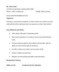 Job Description For Customer Service Associate Simple Resume Format
