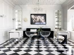 outstanding vintage living room decors with retro living room set on diagonal white black checd floor tiled designs