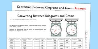 Kilograms To Grams Conversion Chart Converting G To Kg Worksheet Ks2 Primary Resources