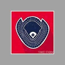 Amazon Com Artsycanvas Yankee Stadium Seating Map