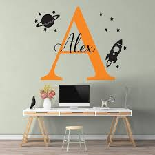 space wall decal nursery for outer