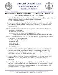 Parks Minutes October 2017