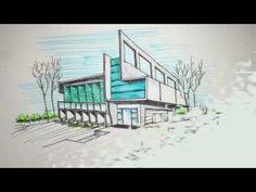 architecture building drawing. Two Point Perspective Freehand Building Drawing - YouTube Architecture N