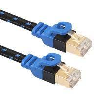 Satın Al Yüksek Hızlı Profesyonel İnternet Kablo Fiber Örgü PVC Mavi Ve  Siyah RJ45 Kedi 7 Ethernet Kablo Ağ Kablosu Çift Kalkanlı Altın Kaplamalı,  TL35.06