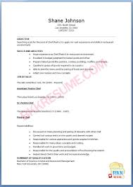 Culinary Resume Examples 60 Images Resume Samples Career