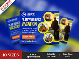 Travel Service Banner Ads Templates Psd By Psd Freebies On