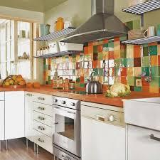 Bright kitchen tiles, colorful backsplash design idea