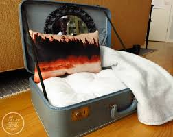 Diy Dog Bed Diy Vintage Suitcase Dog Bed The Gold Jellybean