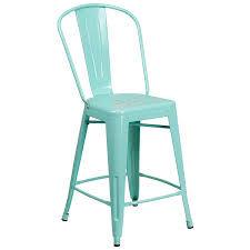 distressed metal furniture. Amazon.com: Flash Furniture 24\u0027\u0027 High Mint Green Metal Indoor-Outdoor Counter Height Stool With Back: Kitchen \u0026 Dining Distressed A