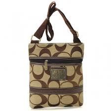 Coach Legacy Swingpack In Signature Small Khaki Crossbody Bags AUY