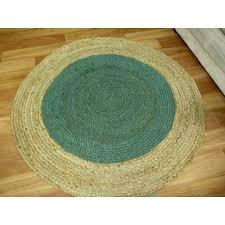 braided jute target turquoise round circle floor rug