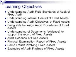 Audit Field Standards Audit Of Fixed Assets Ppt Video Online Download